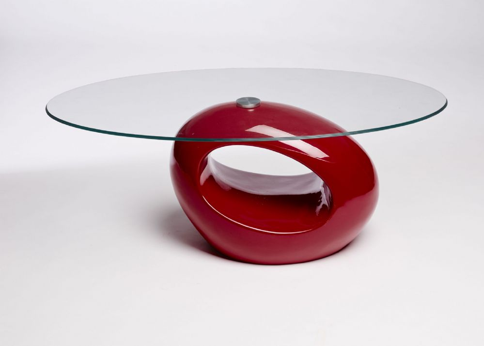 Retro Oval Red Clear